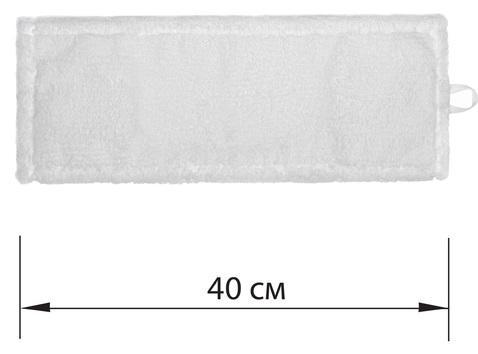 Насадка МОП плоская для швабры/держателя 40 см, У/К (уши/карманы), микрофибра, ЛАЙМА EXPERT насадка для моп лайма 40 см кремовый
