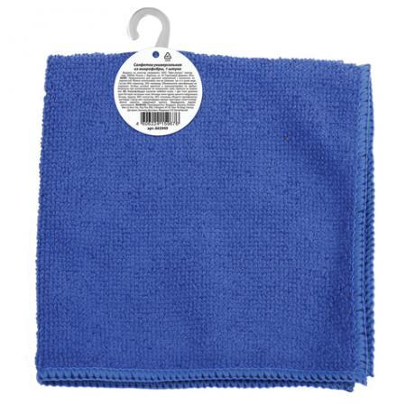Салфетка универсальная, микрофибра, 30х30 см, синяя, ЛЮБАША ЭКОНОМ, 603949 салфетка хозяйкинъ универсальная микрофибра 30х30 см