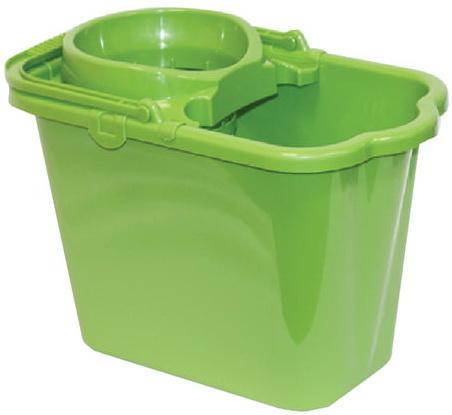 Ведро 9,5 л, с отжимом (сетчатый), пластиковое, цвет зеленый, (моп 602584, -585), IDEA, М 2421 недорого