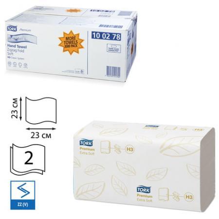 Полотенца бумажные Tork Premium 200 шт 2-ух слойная комплект 15 шт 100278