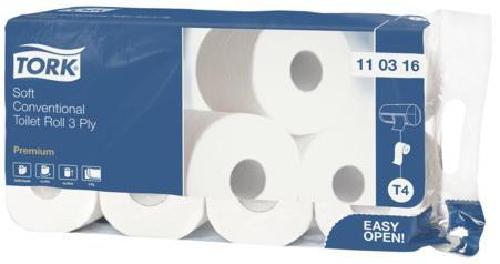 купить Бумага туалетная Tork Premium 8 шт 3-ех слойная недорого
