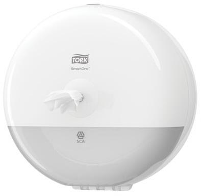 Диспенсер для туалетной бумаги TORK (Система T9) SmartOne, mini, белый, 681000