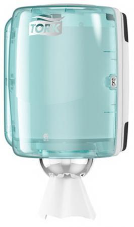 Диспенсер для полотенец TORK (Система M2) Performance, с центральной вытяжкой, голубой, 659000 цена