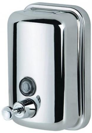 лучшая цена Диспенсер для жидкого мыла KSITEX, наливной, нержавеющая сталь, зеркальный, 0,8 л, SD 2628-800