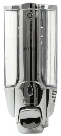 лучшая цена Диспенсер для жидкого мыла KSITEX, наливной, хромированный, 0,3 л, SD 1628К-300