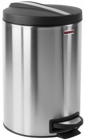 Фото - Ведро-контейнер для мусора (урна) с педалью ЛАЙМА Modern, 12 л, матовое, нержавеющая сталь, со съемным внутренним ведром, 232264 урна для мусора лайма настольная с качающейся крышкой нержавеющая сталь матовая 601618