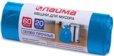 Фото - Мешки для мусора 60 л, синие, в рулоне 20 шт., ПВД, 30 мкм, 60х70 см (±5%), особо прочные, ЛАЙМА, 601382 мешки для мусора 60 л синие в рулоне 20 шт особо прочные пвд 30 мкм 60х70 см laima 601382