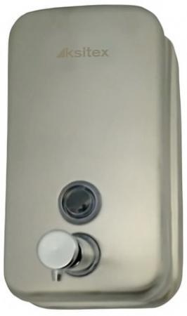 Диспенсер для жидкого мыла KSITEX, наливной, нержавеющая сталь, матовый, 0,8 л, SD 2628-800М диспенсер для мыла axentia nero 131056 черный 300 мл