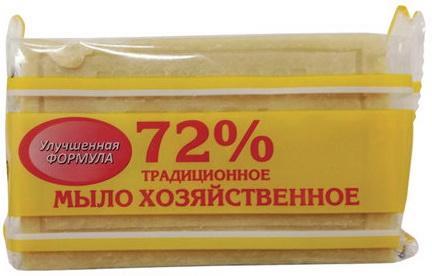 Мыло хозяйственное 72%, 150 г (Меридиан)