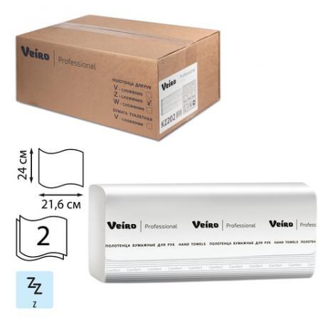 Полотенца бумажные 200 шт., VEIRO (Система H2), комплект 21 шт., Comfort, 2-слойные, белые, 24х21,6, Z, KZ202 полотенца бумажные 200 шт veiro система h3 комплект 20 шт premium 2 слойные белые 21х21 6 v kv306
