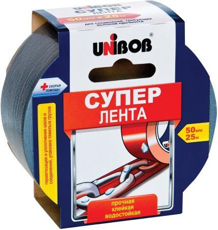 Клейкая лента Unibob Супер 44265 50мм x 25 м армированная, универсальная, основа-полиэстер лента клейкая армированная airline aat r