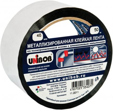 Клейкая лента Unibob 39117 48мм x 50 м металлизированная, основа-ПП с алюминиевым напылением стоимость