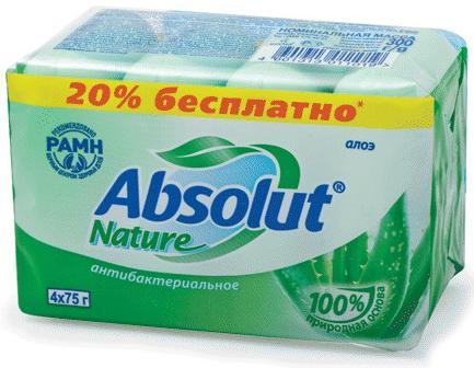 Мыло твердое ABSOLUT Алоэ 300 гр мыло нэфис фруктовая аллея апельсин 90 гр 933435
