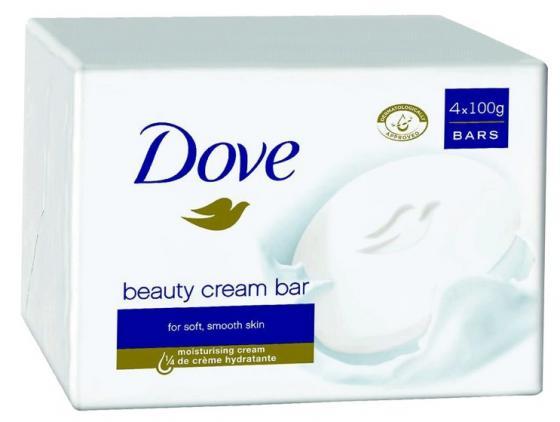 """Мыло-крем туалетное 135 г, DOVE """"Красота и уход"""" подарочный набор dove драгоценный уход c мочалкой"""