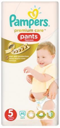 Подгузники-трусики КОМПЛЕКТ 40 шт., PAMPERS (Памперс) Premium Care Pants, размер 5 (12-18 кг), PA-81627475 коляска 2 в 1 fd design viper 4s pearl