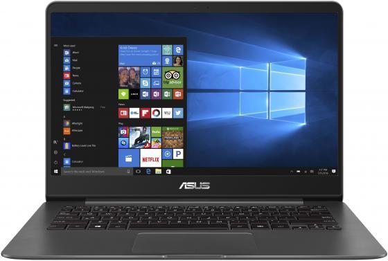 Ноутбук ASUS Zenbook UX430UN-GV191T 14 1920x1080 Intel Core i7-8550U 512 Gb 16Gb nVidia GeForce MX150 2048 Мб серый Windows 10 Home 90NB0GH1-M05400 ноутбук asus zenbook ux333fn a3052r royal blue 90nb0jw1 m02180 intel core i7 8565u 1 8ghz 8192mb 512gb ssd no odd nvidia geforce mx150 2048mb wi fi bluetooth cam 13 3 1920x1080 windows 10 64 bit