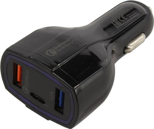 Фото - Автомобильное зарядное устройство ORIENT QC-12V3B 3.5А 2 х USB USB-C черный автомобильное зарядное устройство orico ucl 2u bk 2 х usb 1 2 4 а черный