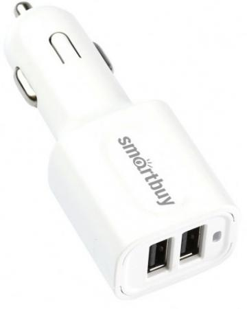 Автомобильное зарядное устройство Smart Buy Turbo 3 А 2 х USB белый SBP-2032