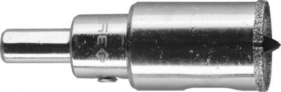Коронка алмазная по кафелю и стеклу, d=22 мм, зерно Р 60, в сборе с центрирующим сверлом и имбусовым ключом, ЗУБР Профессионал 29850-22 цены онлайн