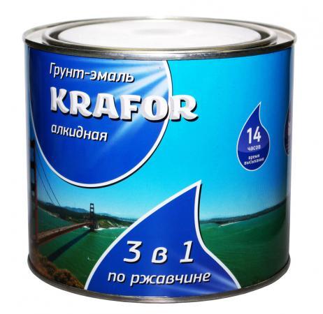 ГРУНТ- ЭМАЛЬ ПО РЖАВЧИНЕ БЕЛАЯ 1,9 КГ (6) KRAFOR грунт эмаль по ржавчине зеленая krafor 5 5кг