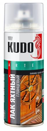 """ЛАК АЭРОЗОЛЬ ЯХТНЫЙ 520 МЛ (12) """"KUDO"""" KU-9003"""