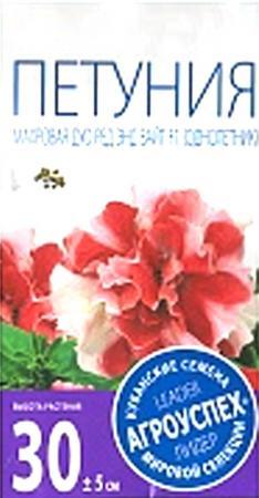СЕМЕНА ЦВЕТОВ ПЕТУНИЯ ДУО РЕД ЭНД ВАЙТ F1 МАХРОВАЯ 10 ШТ. (10/400) АГРОУСПЕХ семена агроуспех фриллитуния вишневая петуния f1 о 29785 8 шт