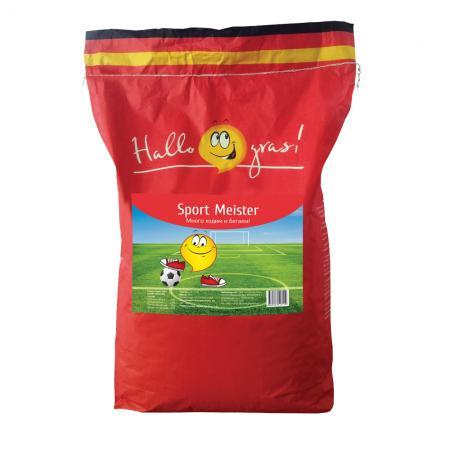 СЕМЕНА ГАЗОННОЙ ТРАВЫ SPORT MEISTER GRAS 10 КГ (1) семена газонной травы настоящий спортивный 10 кг 1