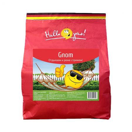 СЕМЕНА ГАЗОННОЙ ТРАВЫ GNOM GRAS 1 КГ (1/12) семена газонной травы эконом футбольный ковер 1 8 кг 1 14