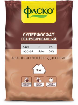 """СУПЕРФОСФАТ ГРАНУЛИРОВАННЫЙ 3 КГ (10) """"ФАСКО"""""""