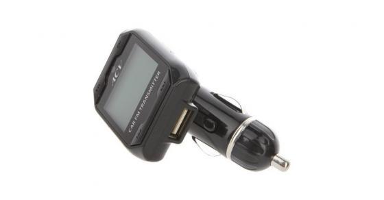 цена Автомобильный FM-модулятор ACV FMT-115 черный MicroSD USB PDU (26563) онлайн в 2017 году