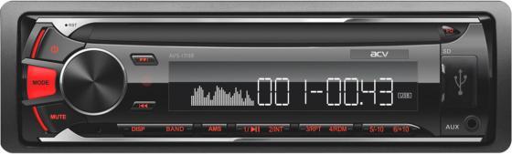 Автомагнитола ACV AVS-1713R 1DIN 4x45Вт автомагнитола acv avs 1712w 1din 4x45вт