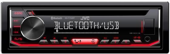 Автомагнитола CD JVC KD-T702BT 1DIN 4x50Вт автомагнитола cd kenwood kdc 130ug 1din 4x50вт