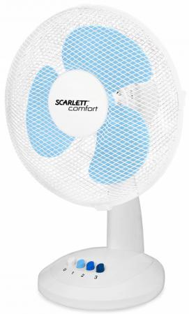 Вентилятор настольный Scarlett SC-DF111S07 38 Вт белый вентилятор scarlett sc 1173