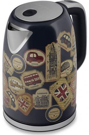 Чайник электрический Polaris PWK 1730CA 2200 Вт рисунок 1.7 л нержавеющая сталь чайник электрический element el kettle 2200 w
