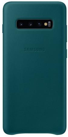 Чехол (клип-кейс) Samsung для Samsung Galaxy S10+ Leather Cover зеленый (EF-VG975LGEGRU) чехол для смартфона samsung ef pi950bgegru для gt i9500 galaxy s4 зеленый ef pi950bgegru