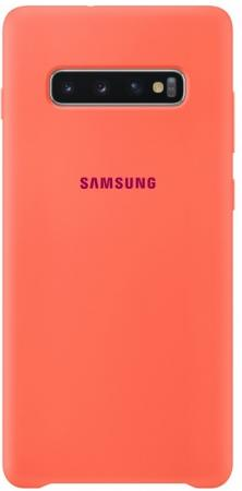 Чехол (клип-кейс) Samsung для Samsung Galaxy S10+ Silicone Cover розовый (EF-PG975THEGRU) клип кейс samsung silicone для samsung galaxy s10 plus [ef pg975tbegru] черный