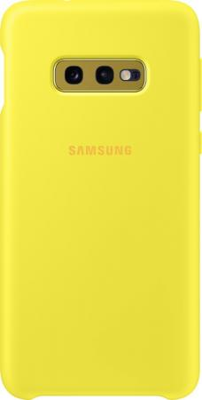 Чехол (клип-кейс) Samsung для Samsung Galaxy S10e Silicone Cover желтый (EF-PG970TYEGRU) чехол клип кейс samsung для samsung galaxy s10e silicone cover темно синий ef pg970tnegru