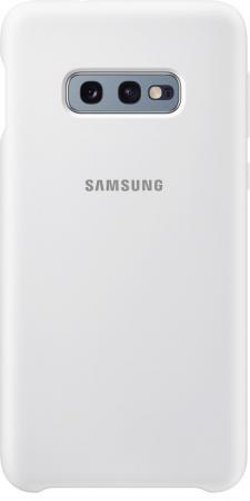 Чехол (клип-кейс) Samsung для Samsung Galaxy S10e Silicone Cover белый (EF-PG970TWEGRU) чехол клип кейс samsung для samsung galaxy s10e silicone cover темно синий ef pg970tnegru