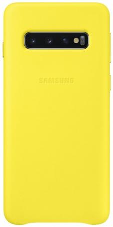 Чехол (клип-кейс) Samsung для Samsung Galaxy S10 Leather Cover желтый (EF-VG973LYEGRU) чехол клип кейс samsung для samsung galaxy s10 leather cover красный ef vg975lregru