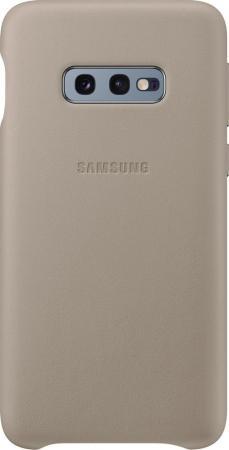 цена на Чехол (клип-кейс) Samsung для Samsung Galaxy S10e Leather Cover серый (EF-VG970LJEGRU)