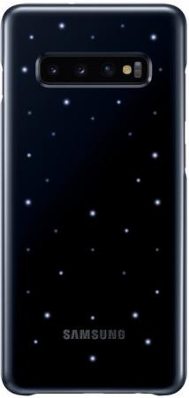 Чехол (клип-кейс) Samsung для Samsung Galaxy S10+ LED Cover черный (EF-KG975CBEGRU)