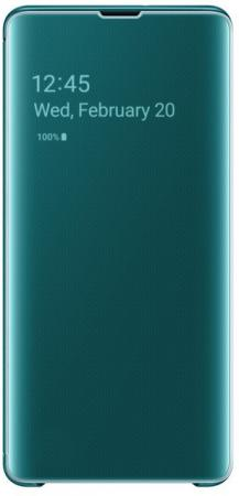 Чехол (флип-кейс) Samsung для Samsung Galaxy S10+ Clear View Cover зеленый (EF-ZG975CGEGRU) цена и фото