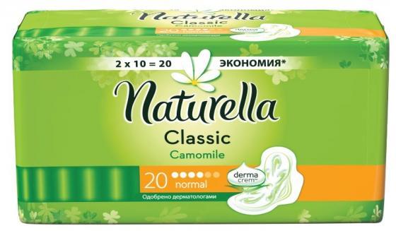 naturella naturella прокладки гигиенические ultra camomile normal duo 20 шт Прокладки впитывающие Naturella Classic Camomile Normal 20 шт