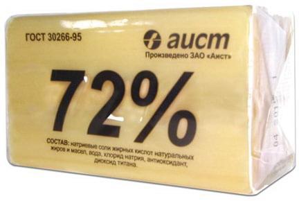 """Мыло хозяйственное 72%, 200 г, (Аист) """"Классическое"""", в упаковке, 4304010046"""