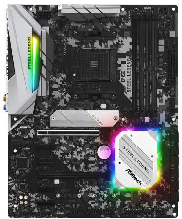 Купить Материнская плата ASRock B450 STEEL LEGEND Socket AM4 AMD B450 4xDDR4 2xPCI-E 16x 4xPCI-E 1x 6 ATX Retail
