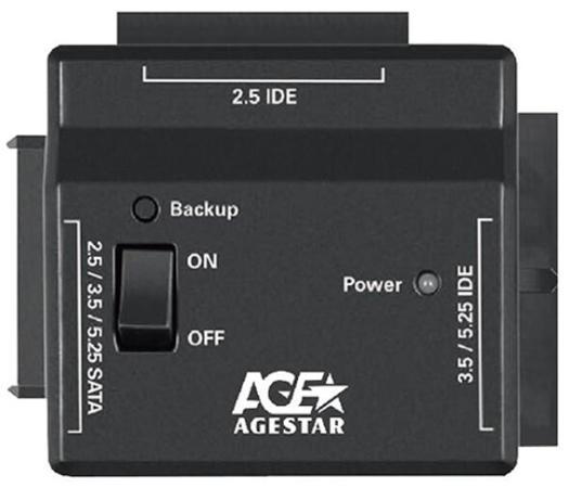 """Универсальный переходник AgeStar для HDD 2.5""""/3.5"""" FUBCP2 черный универсальный переходник agestar iubcp для 2 5 и 3 5 дисков"""