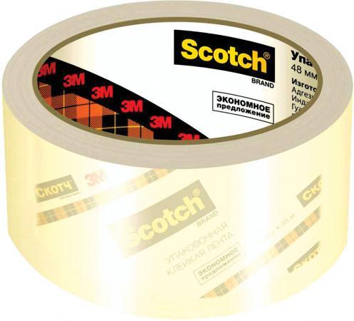Клейкая лента 3M Scotch 440093 48мм x 50 м прозрачная клейкая лента 3m scotch 440093 48мм x 50 м прозрачная