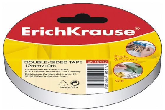 купить Клейкая лента Erich Krause 19447 12мм x 10 м двухсторонняя, на бумажной основе недорого