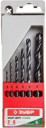 Набор сверл по металлу 6 шт (d=2-8 мм), быстрорежущая сталь, класс В, ЗУБР 29605-H6, МАСТЕР-6 контактные линзы cooper vision biomedics 55 evolution 6 шт r 8 6 d 6 0