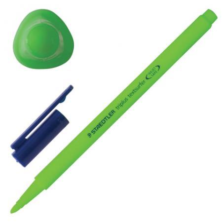 Текстмаркер Staedtler Triplus Textsurfer 1-4 мм зеленый ручка капиллярная staedtler triplus broadliner 338 box338 30 цвет чернил голубой 10 шт